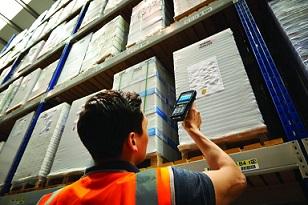 Lecture de codes à barres en entrepôt