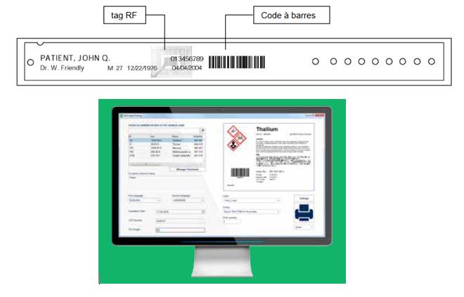 logiciel d'impression RF-ID